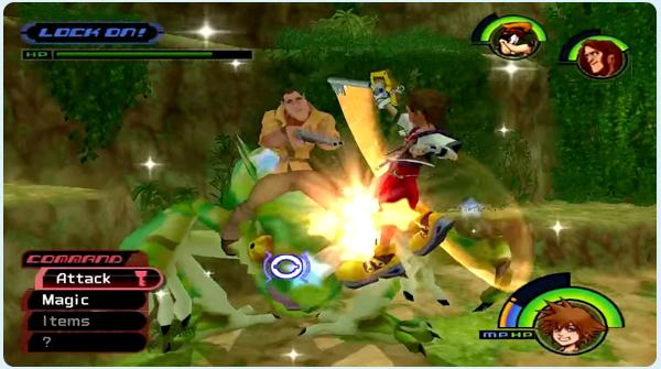 Kingdom Hearts Deep Jungle - Sora battles Clayton & the Stealth Sneak