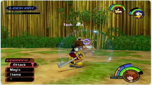 Kingdom Hearts Deep Jungle - Sora battles Sabor at the Bamboo Thicket