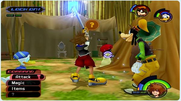 Kingdom Hearts Deep Jungle - Sora encounters White Mushrooms