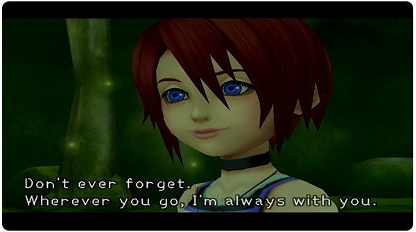 Kingdom Hearts Traverse Town III - Sora and Kairi talk in the Secret Waterway