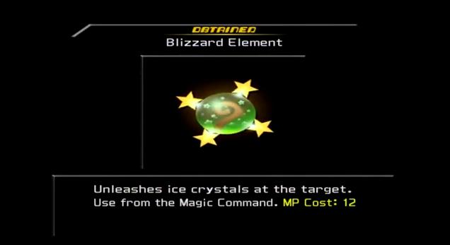 KH2 - Blizzard Element