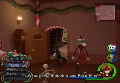KH2 - Halloween Town Santa's Workshop