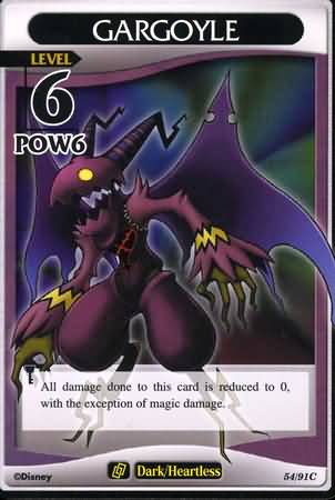 #54 gargoyle lv6 khtcg card