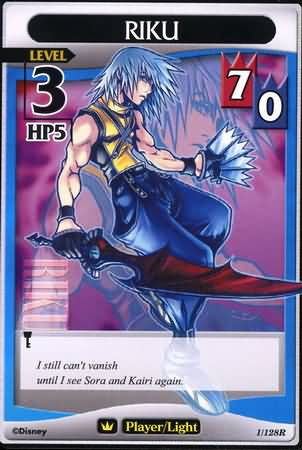 #001 Riku Lv3 player light card