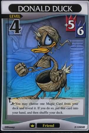 #002 Donald Duck Lv4 friend card