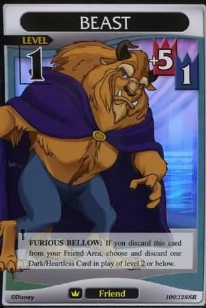#100 beast lv1 super rare friend khtcg card