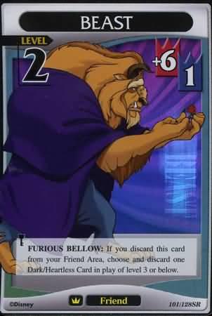 #101 beast lv2 super rare friend khtcg card