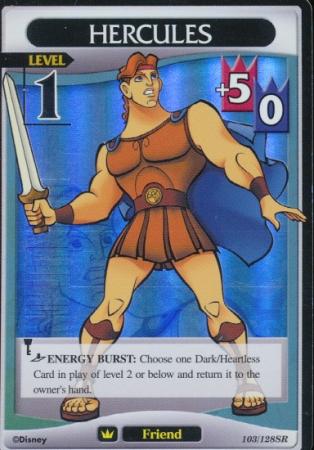 #103 hercules lv1 super rare friend khtcg card