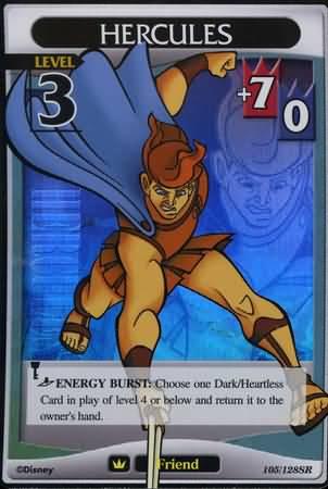 #105 hercules lv3 super rare friend khtcg card