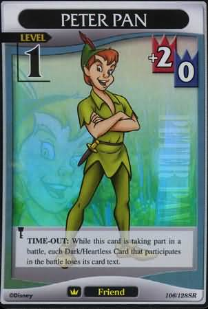 #106 peter pan lv1 super rare friend khtcg card