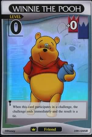 #109 winnie the pooh lv0 super rare friend khtcg card