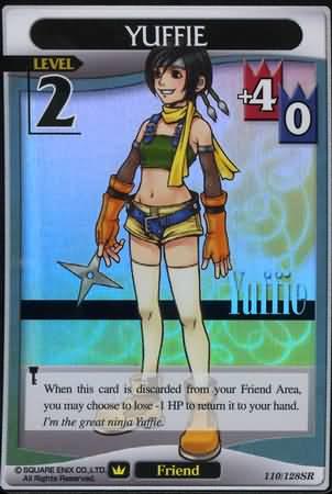 #110 yuffie lv2 super rare friend khtcg card