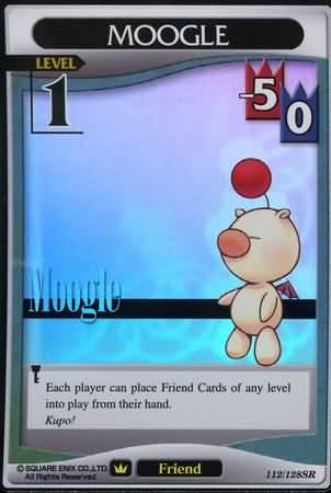 #112 moogle lv1 super rare friend khtcg card