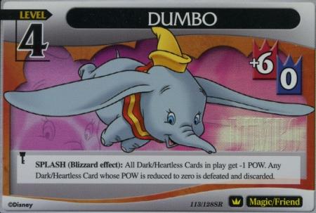 #113 dumbo lv4 super rare friend khtcg card