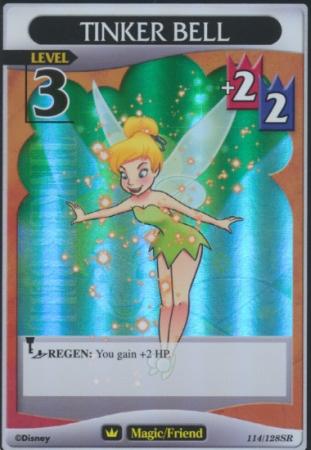 #114 tinker bell lv3 super rare friend khtcg card