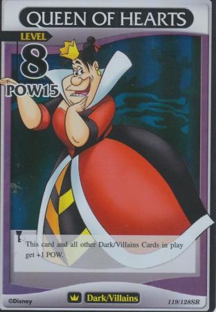 #119 queen of hearts lv8 heartless super rare khtcg card