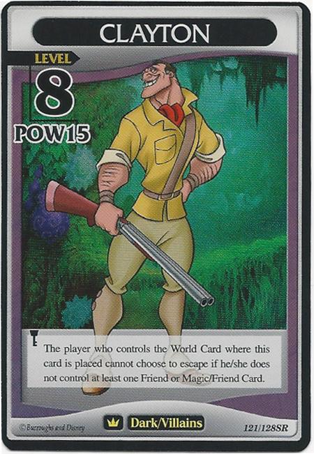#121 clayton lv8 heartless super rare khtcg card