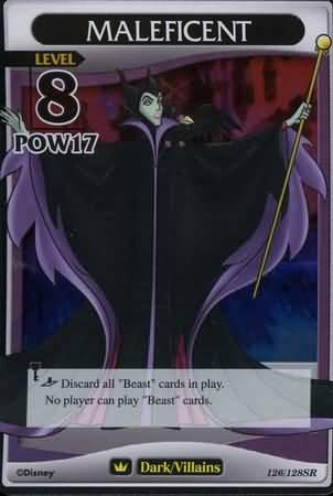 #126 maleficent lv8 heartless super rare khtcg card