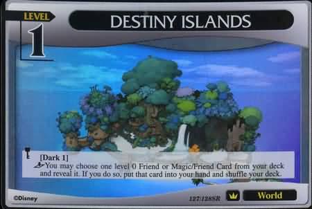#127 destiny islands world super rare khtcg card