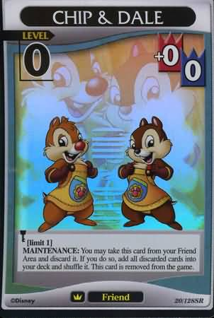 #020 chip dale Lv0 friend card
