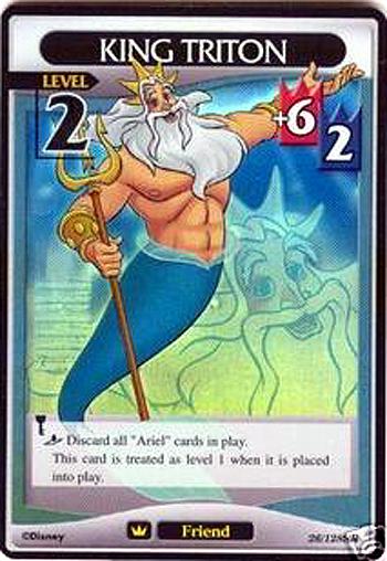 #026 king triton Lv2 card