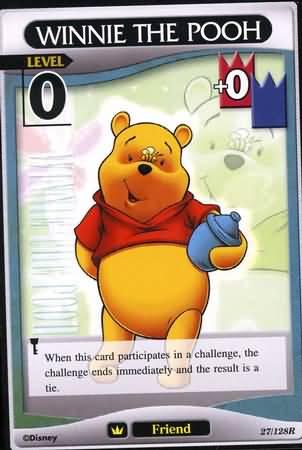 #027 winnie the pooh Lv0 friend card