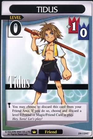 #028 tidus Lv0 friend card