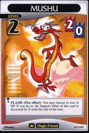 #034 mushu Lv2 friend card