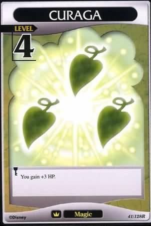 #041 curaga Lv4 magic card