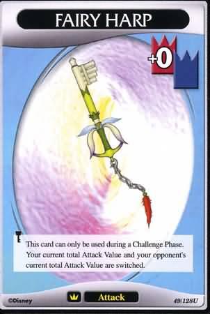 #049 fairy harp keyblade khtcg card