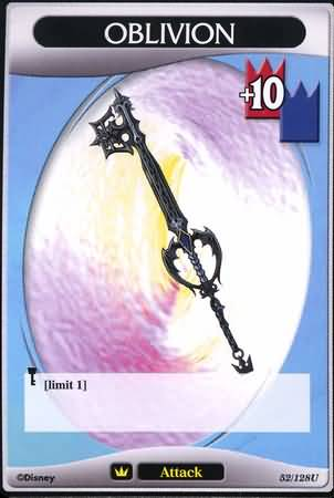 #052 oblivion keyblade khtcg card