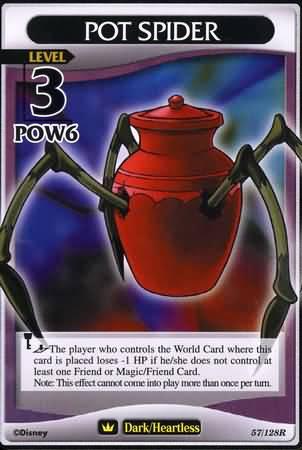 #057 pot spider heartless khtcg card
