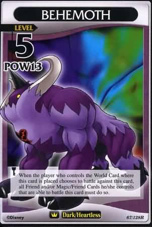 #067 behemoth heartless khtcg card