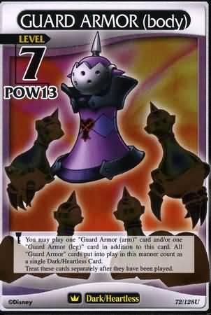 #072 guard armor torso heartless khtcg card