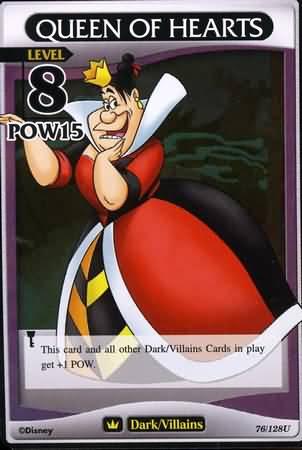 #076 queen of hearts heartless khtcg card