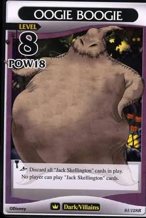 #081 oogie boogie heartless khtcg card