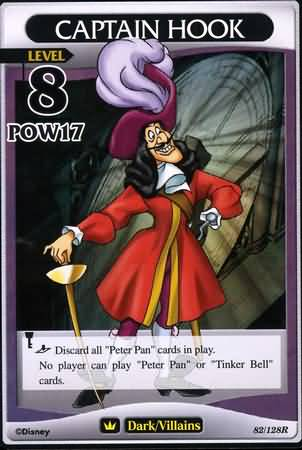 #082 captain hook heartless khtcg card