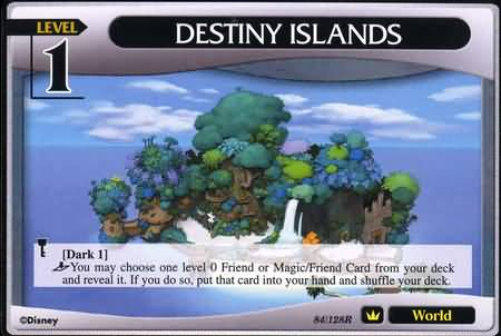 #084 destiny islands lv1 world khtcg card