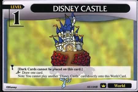 #085 disney castle lv1 world khtcg card
