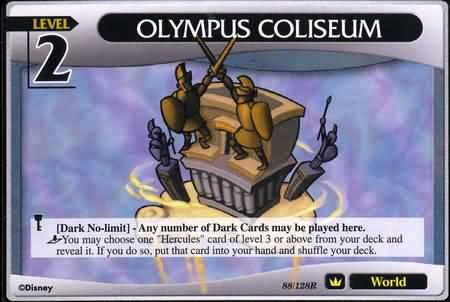#088 olympus coliseum lv2 world khtcg card