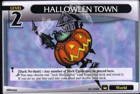 #091 halloween town lv2 world khtcg card