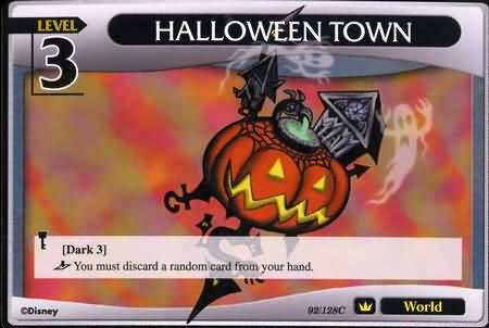 #092 halloween town lv3 world khtcg card