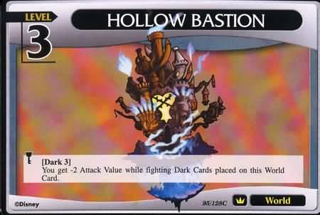 #095 hollow bastion lv3 world khtcg card