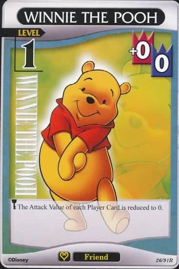 #26 winnie the pooh lv1 friend khtcg card