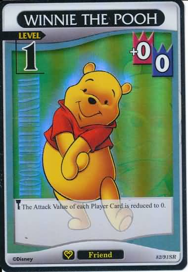 #82 winnie the pooh super rare lv1 friend khtcg card