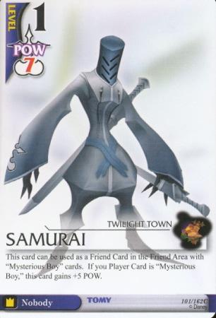 #101 samurai level 1 nobody heartless kh card