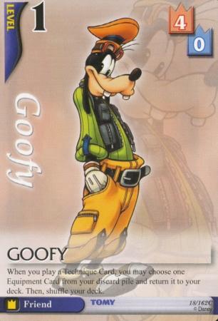 #18 goofy lv1 friend card