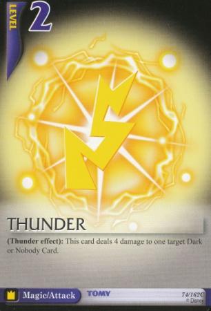 #74 thunder magic level 2 card